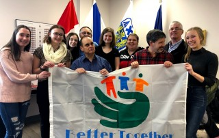 """Members of the Youth Council with the 'Better Together"""" group!"""